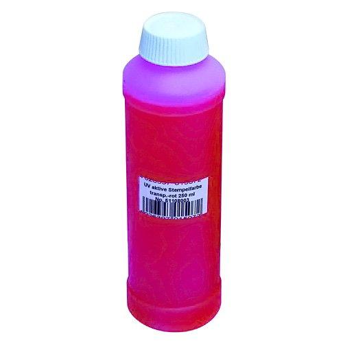 Eurolite 51108003 UV Attivo colore del timbro (250 ML) rosso trasparente