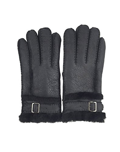 YISEVEN Men's Shearling Sheepskin Winter Gloves with Adjustable Fastening (Combat Arms Halloween Theme)