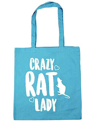 Surf rat 10 Gym 42cm HippoWarehouse litres lady x38cm Beach Crazy Bag Shopping Blue Tote 1xvH74q