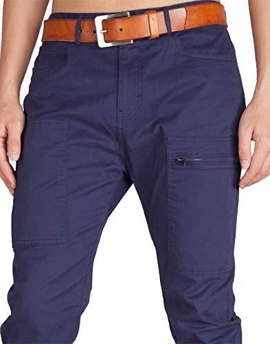 Fit Cargo 21 Blu Colori Uomo Jogging Mezzanotte Casual Morn Slim Chino Italy Pantaloni Zq8xA4aHw