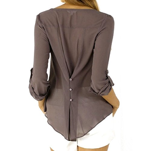 70%OFF Ularma 2016 Moda Mujeres sueltas gasa ocasional camisa Camisera 058fcec59cd6