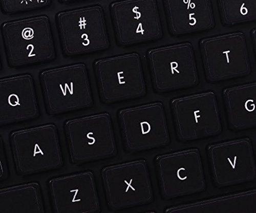 LA CAVERNE DEABANI /® Kit of 48 Pre-Cut French Azerty Keyboard Stickers Black Background