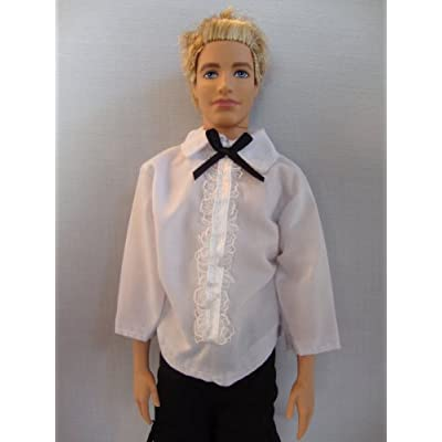 Doll Casual Clothing Set White Long-Sleeve Shirt and Black Pants: Toys & Games