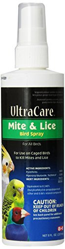 8 In 1 UltraCare Mite and Lice Spray, 8-Ounce (Lice Bird)