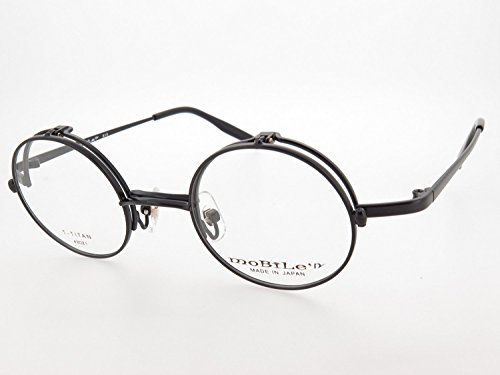 Round single direction flip-up spring hinge titanium eyeglass frames made in Japan (Sabae) Matt - Japan Glasses In Made