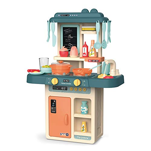ARHA IINTERNATIONAL Kids Pack of 36-Piece Kitchen Playset, with Realistic Lights & Sounds,Play Sink with Running Water…