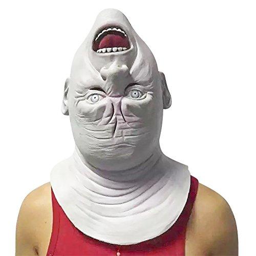 Creepy Halloween Mask Full Face Latex Makeup Dance Mask Mask Face (Creepy Makeup)