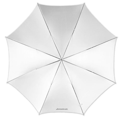 Westcott 2001 43-Inch Optical White Satin Collapsible Umbrella by Westcott