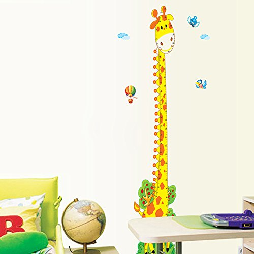 wall decals giraffe chart - 5