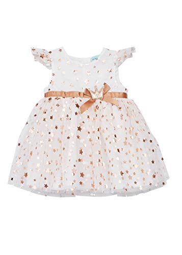 Infant Baby Girls Dresses Kids Tutu Tulle Birthday Wedding Party Special Occasion Playwear 0-24 Months (6 Months, White C29)]()