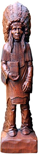 Hickory Manor House Cigar Store Indian Decorative - Stores Hickory