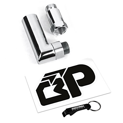 Impreza Exhaust System (BlackPath - Universal Fit Oxygen O2 Sensor Spacer Adapter Extenders [(1x) 90 Degree Angle] + [(1x) Straight] CEL Fix Kit for Exhaust Systems with M18 x 1.5 Sensor Holes)
