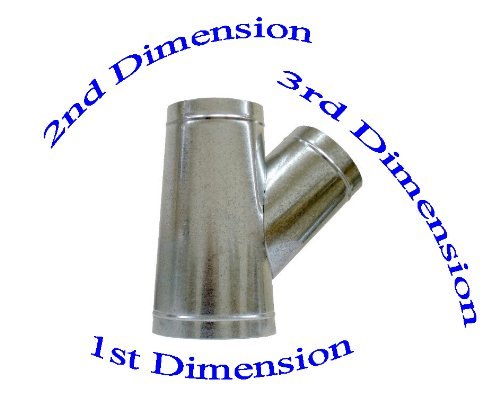 """12"""" x 8"""" x 6"""" Duct Wye Branch HVAC Ductwork AC Duct Fittings"""