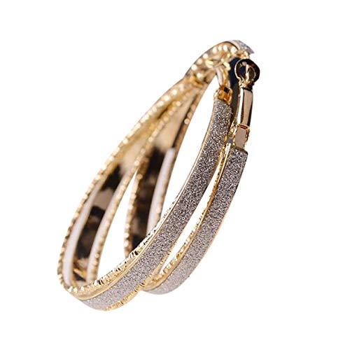 - Redvive Top Women Jewelry Dull Polish Drop Round Dangle Drop Party Big Hoop Earrings