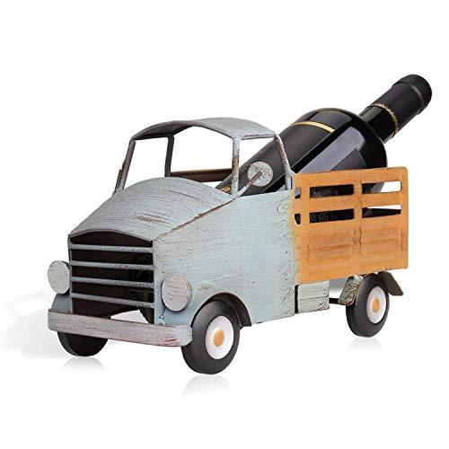 Pickup Truck Wine Rack Bar Cabinet Metal Wine Holder Sculpture Home Decoration Whiskey Bottle Rack Crafts,Multi