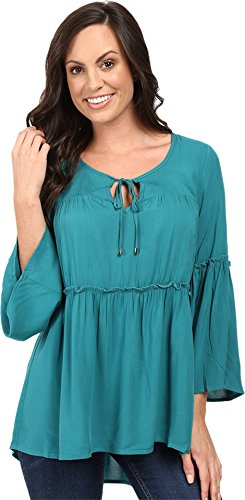 scully-hc282-womens-flounce-blouse-green-l