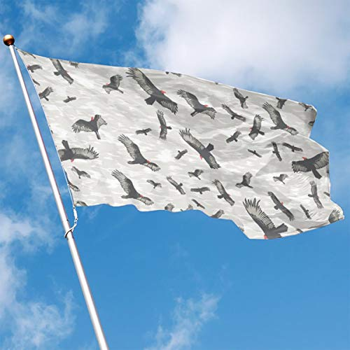DENETRI DYERHOWARD Fly Breeze 3 X 5 Foot Flag Bird Pattern Vivid Color and UV Fade Resistant Canvas Header and Double Stitched Garden Flags