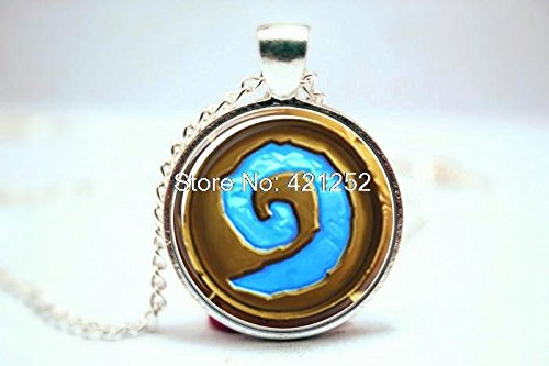 Price comparison product image Pretty Lee 2015 Fashion Wow World Of Warcraft Necklace Logo Heartstone Necklace Glass Photo Cabochon Necklace Christmas gift