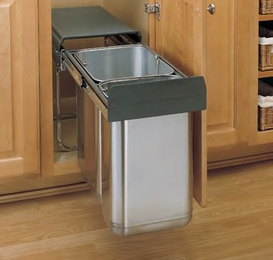 8-785 SERIES Under Sink Mount Waste Containers (Individual Pack) Door Mount Under Sink Waste Container