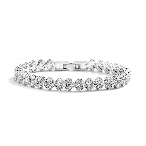 "Mariell 6 3/8"" CZ Wedding Bridal or Prom Tennis Bracelet - Petite Size, Perfect for Smaller Wrist."