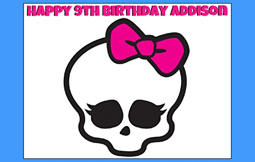 MONSTER HIGH Skullette Edible Image Cake topper Birthday