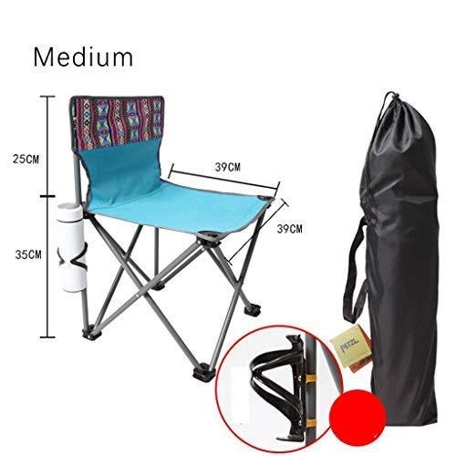blueee medium BAIF Folding Camping Chair, Outdoor Beach Chair Outdoor Folding Chair, Confortable Durable Compact Leisure Picnic Trips Fishing