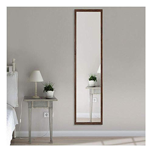 Beauty4U Full Length Wall Mirror Float Tile Brown Dressing Mirror for Wall Decor