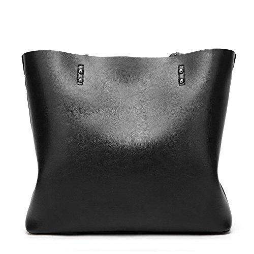 Compras de Mujeres TSMBH180784 mano Bolsas Casual de Pu Negro AalarDom Bolsas hombro OnZFXF