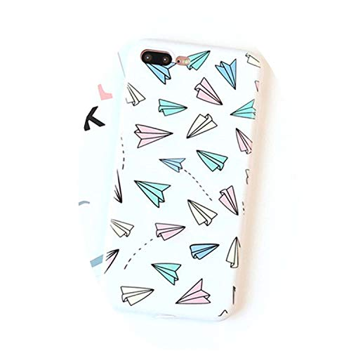 Chibi-Store for Iphone6 6splus Colorful Paper Plane Phone Case for Iphone7 8plus X Lovely Cartoon,02,6 6s (Case Nokia X3 02)