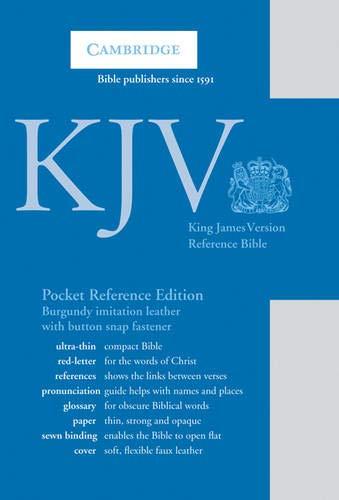 KJV Pocket Reference Bible, Burgundy Imitation Leather with Flap Fastener, Red-letter Text, KJ242:XR Burgundy Imitation Leather, with Flap Fastener