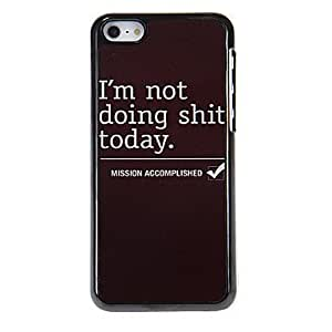 Lazy Day Pattern Aluminous Hard Case for iPhone 5C