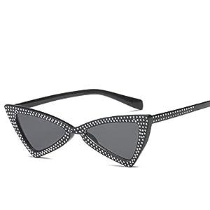 Ablaze-Jin cat eye sunglasses laser drill triangular trend sunglasses men and women personality sunglasses