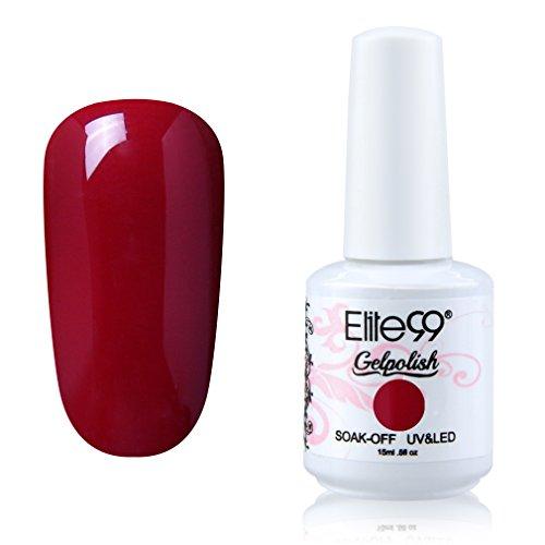 Elite99 Soak-off Gel Polish Lacquer Nail Art UV LED Manicure Varnish 15ml Medium Red 1152