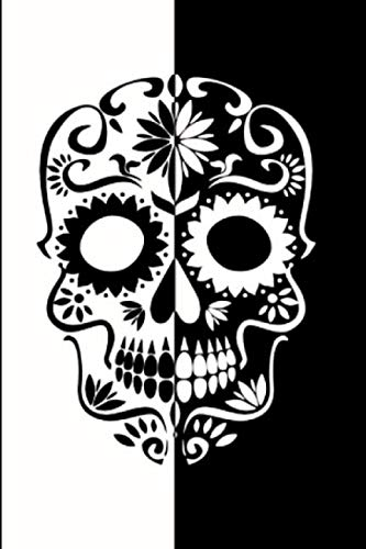 Journal: College Ruled Notebook, Black and White Skull ()