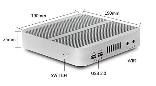 KINGDEL 4K HTPC, Intel i5-4200U Haswell CPU NUC, Windows 10 Nettop, 8GB RAM, 256GB SSD, intel HD4400 Graphics, 4USB 3.0, HDMI, WiFi, Fanless by KINGDEL (Image #1)