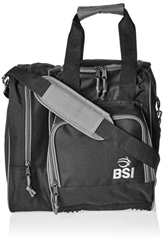 BSI Deluxe Single Ball Bowling Bag- Black
