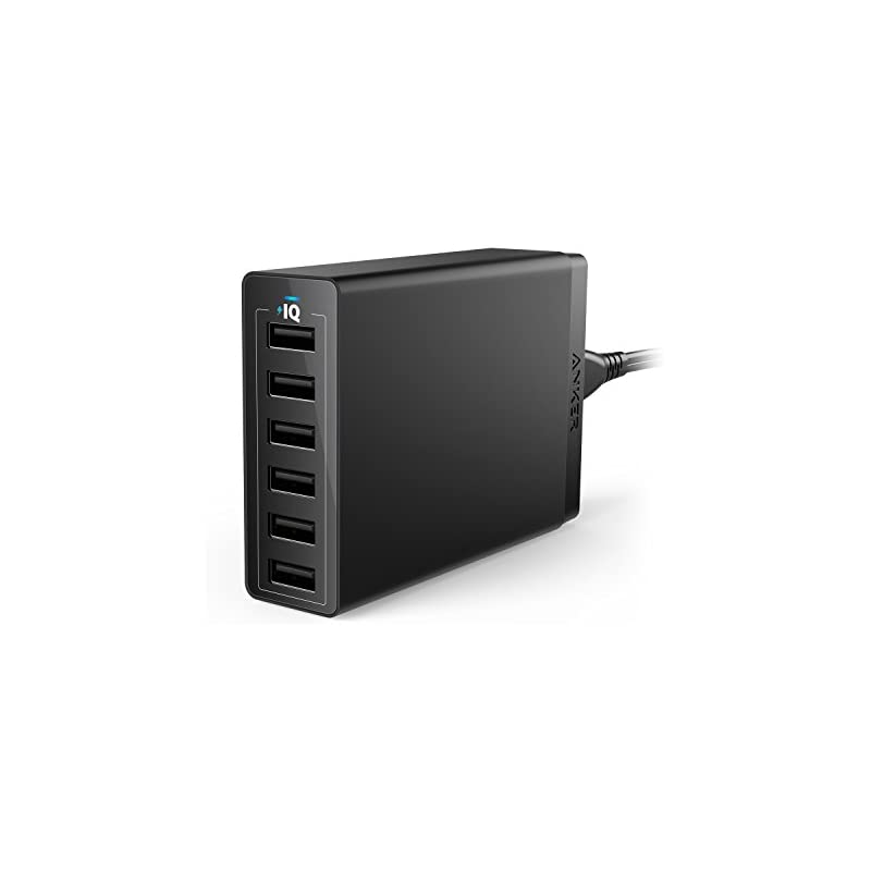 Anker 60W 6-Port USB Wall Charger, Power