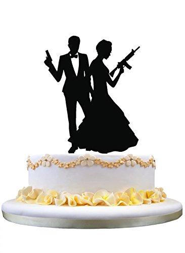 Holding Bride Wedding Cake Topper - 9