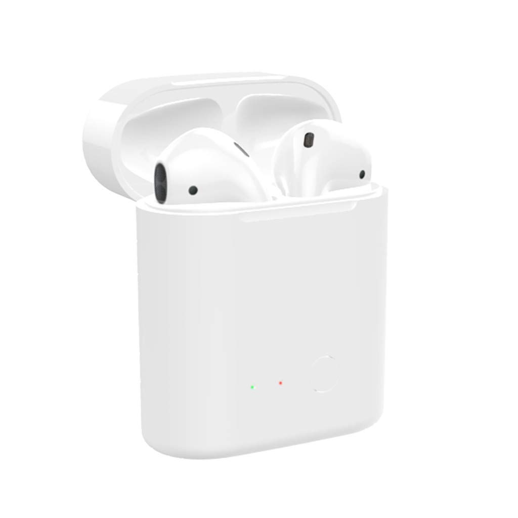 SGYH Smart Headphones Charge Box, Blueteeth Wireless Fast Charging Box Station Qi Charger for Airpods 1/2 Earphones Replacement (White) by SGYH