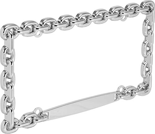 Bell Automotive 22-1-46009-8 Universal Chrome Mega-Metal Chain Design License Plate Frame