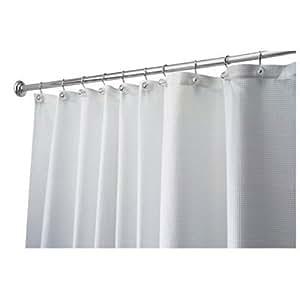 InterDesign - Carlton - Cortina para ducha, 180 x 180 cm, Blanco