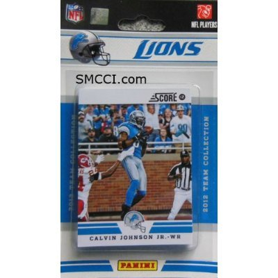 2012 Score Detroit Lions Factory Sealed 12 Card Team Set Including Matthew Stafford, Calvin Johnson, Ndamukong Suh, Nate Burleson, Jahvid Best, Kevin Smith, Stephen Tulloch, Kellen Moore, Riley Reiff, Ronnell Lewis, Ryan Browles and Brandon Pettigrew. (Team Set Score)