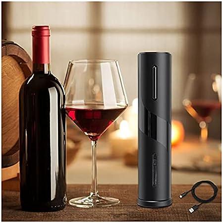 GKXAZ Sacacorcho eléctrico Recargable automático sacacorchos de sacacorchos de Vino con Cortador de lámina y Herramienta de Cocina Recargable USB se Puede Abrir (Color : Battery opertaed)
