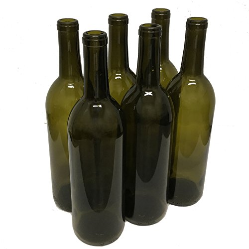 - Wine Bottles, Antique Green, 750ml - Pack of 6