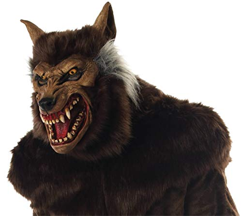 Werewolf Deluxe Scary Beast Monster Horror Latex Adult Halloween Costume Mask]()