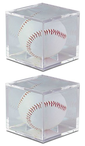 - BCW Square Ball Display Box Crystal Clear with Built-In Ball Cradle and UV Protection (2-Units)