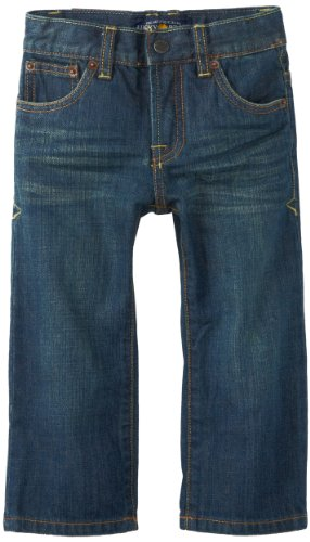 Lucky Brand Little Boys' Toddler Sherman Billy Straight Fit Jeans, Blue/Black Tint, - Tint Brand Clothing