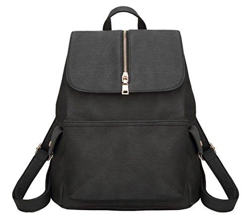 School Waterproof HopeEye Black Young Girls Leisure Women Backpack Leather Bag 6nSP0q
