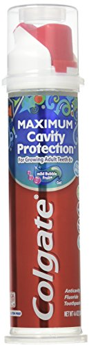 Colgate Maximum Cavity Protection Toothpaste, 6+ Years, Mild Bubble Fruit Gel, 4.4 Oz ()