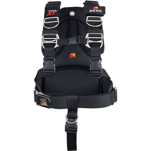 Dive Rite Transpac XT Scuba Diving Harness System with Soft Backplate (LG)